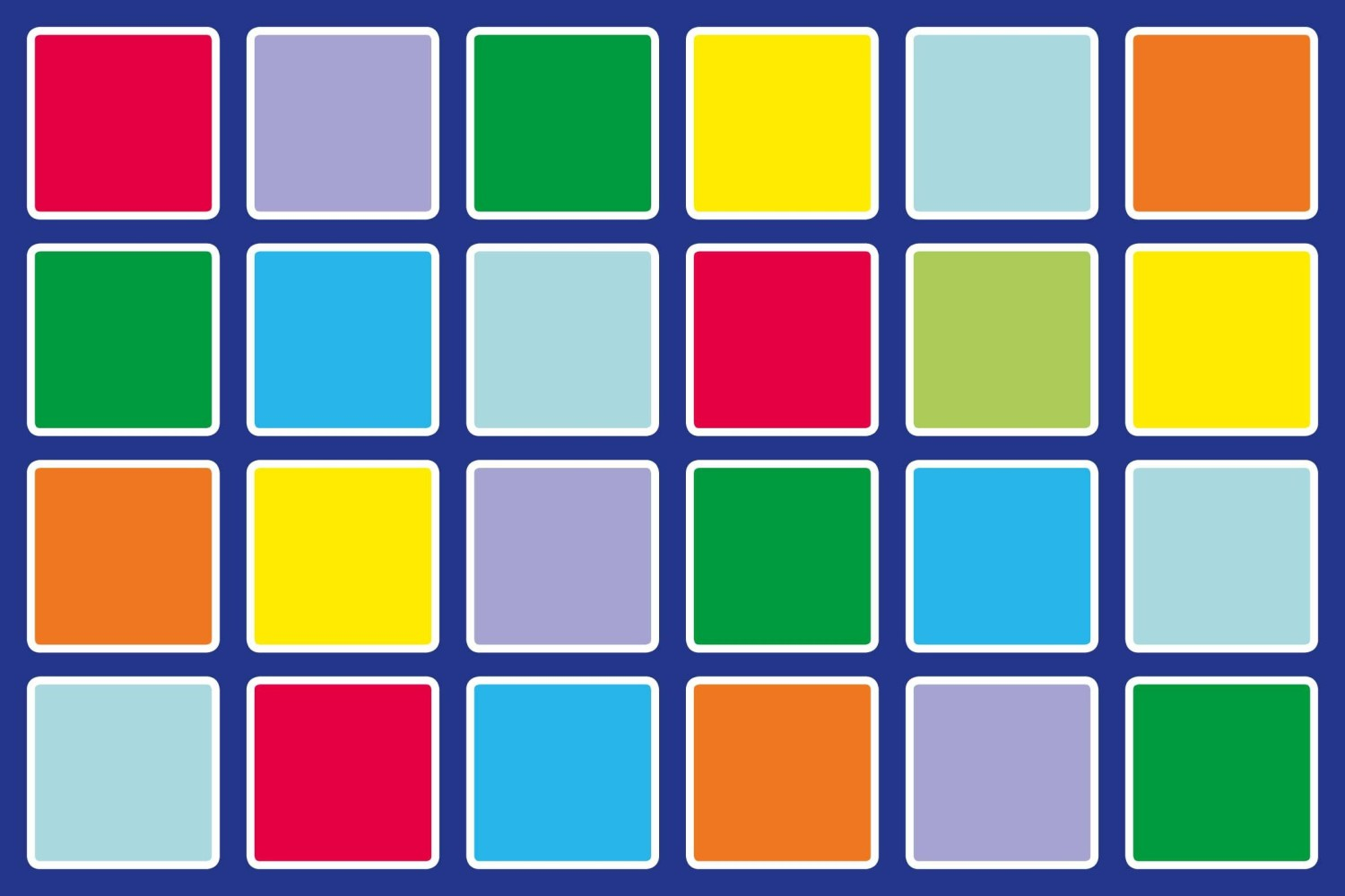 An image of Rainbow Rectangle Placement Carpet