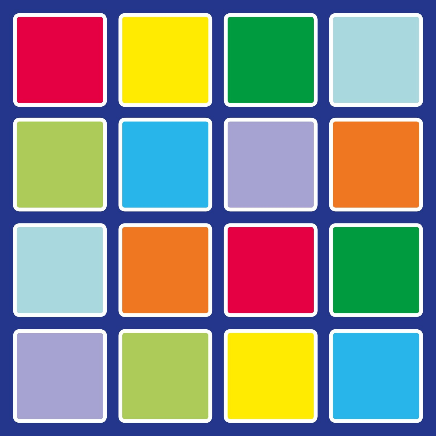 An image of Rainbow Square Placement Carpet