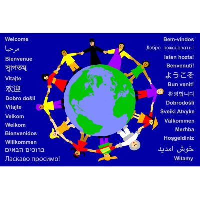 Children Of Teh World Welcome Mat V2 Graphic