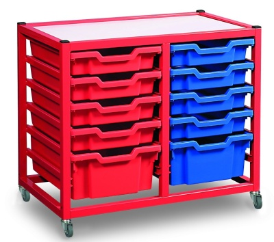 Gratnells Deluxe Two Column Classroom Storage Trolley