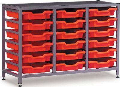 Gratnell 3 Column Storage With 18 Trays