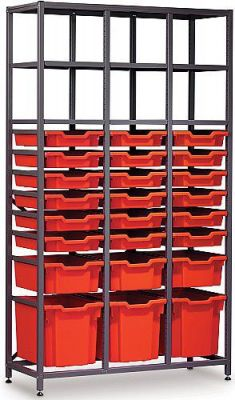 Gratnells Mid Storage Rack With Shallow, Deeo And Jumbo Trays
