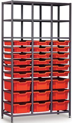 Gratnells Mid Storage Rack With 9 Deep Traus And 18 Shalllow Trays