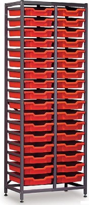 Gratnell 2 Column Storage Rack With 34 Trays