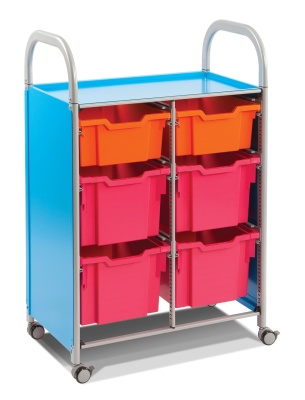 Callero Storage Trolley With Deep And Extra Gdeep Trays