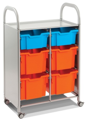 Callero Classroom Storage Strooley With Deep And Extra Deep Trays