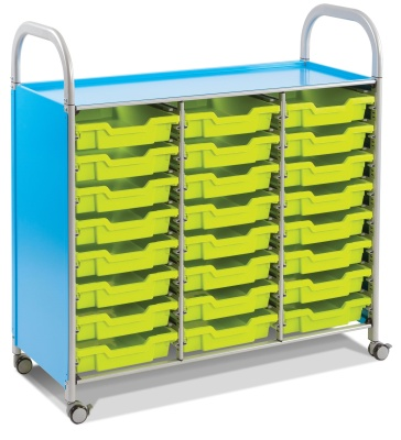 Callero Mobile Classroom Trolley With 24 Shallow Trays