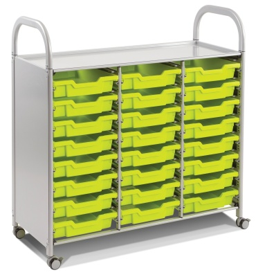 Callero Classroom Trolley With 24 Shallow Trays