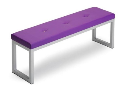 Transter Benches With Button Vinyl Upholstery