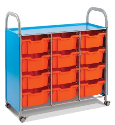 Callero Classroom Trolley With Nine Deep Trays