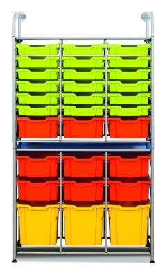 Callero Storage Combination With Shallow Trays Deep Trays And Jumbo Trays