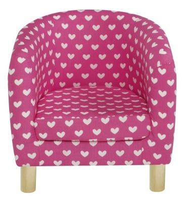 JK Pink Hearts Tub Chair