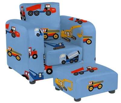 JK Toy TRucks Armchair And Footstool