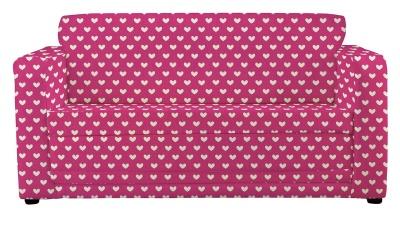 JK Pink Hearts Sofa Bed