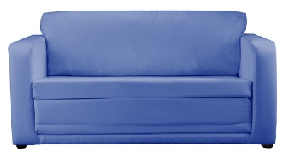 JK Plain Blue Sofa Bed