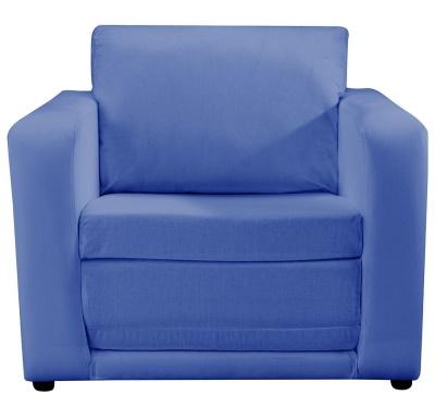 JK Plain Bl;ue Chair Bed