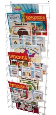 J4 Vertical Wall Mounted Book Rack