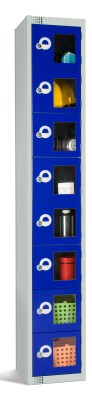 Eight Door Lockers With Vision Panels