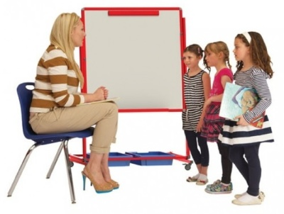 Sunrise Mobile Whiteboard Easel