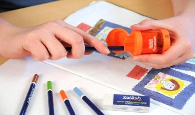 Auto Stop Double Hole Pencil Sharpener