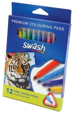 12 Komfigrip Fine Tip Colouring Pens