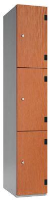 Wood 3 Door Trespa Locker