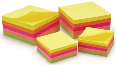 Classmaster Repositionable Neon Notes 50x50mm