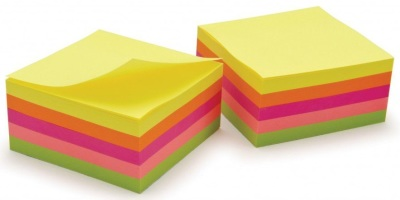 Classmaster Repositionable Neon Notes 75x75mm
