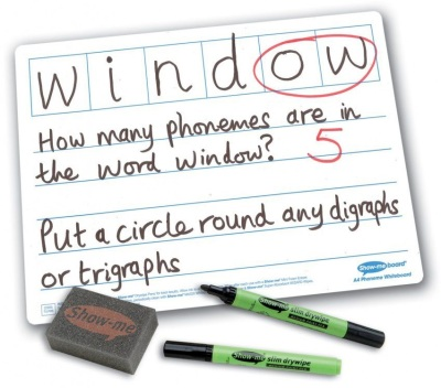 Show Me 6 Frame Phonics Drywipe Boards