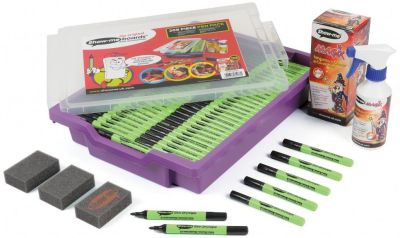 Show Me Medium Tip Pens 200 Gratnell's Tray