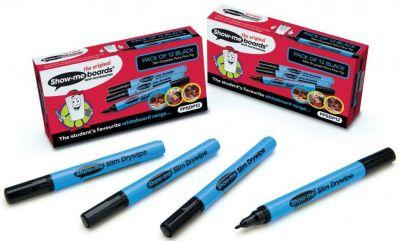 Show Me Fine Tip Black Pens 12 Pack
