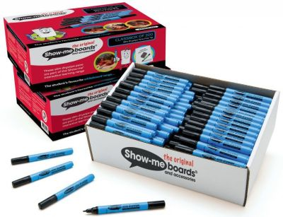 Show Me Fine Tip Black Pens 200 Pack