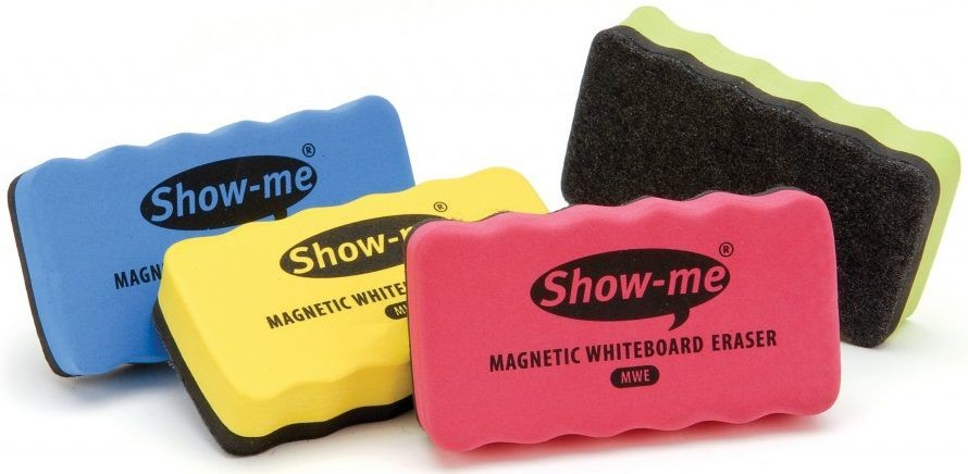An image of Show Me Magnetic Erasers - Whiteboards