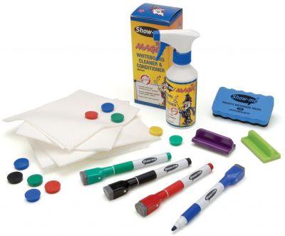 Show Me Premium Magnetic Whiteboard Kit