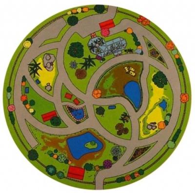 Circular Animal Sanctuary Playmat