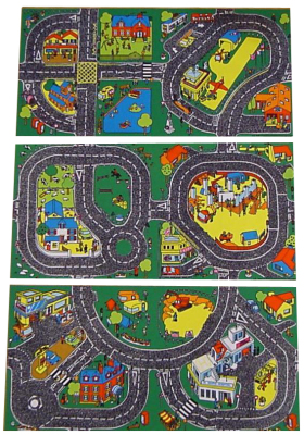 Set Of 3 Roadway Playmats Learning