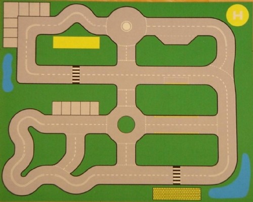 An image of Road Plan Playmat