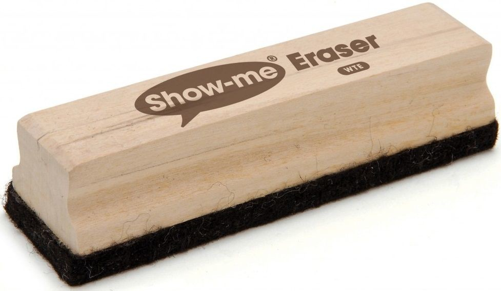 An image of Show Me Large Wooden-Handled Erasers - Whiteboards