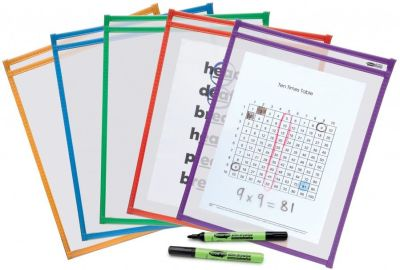 Show Me Drywipe Template Pocket 10 Pack