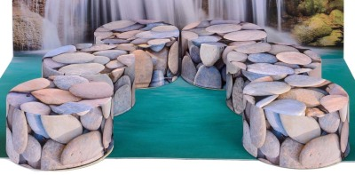 Beach Inspired Pebble Pouffes