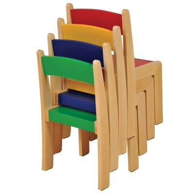 JS Wood Primary Chairs (4 Pack) Mixed