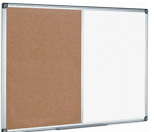 An image of Combination Magnetic Whiteboard & Corkboard - Whiteboards