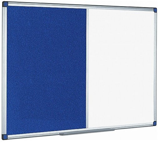 An image of Combination Magnetic Whiteboard & Noticeboard - Whiteboards