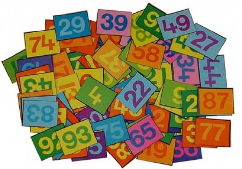 An image of Number Tiles 1-100