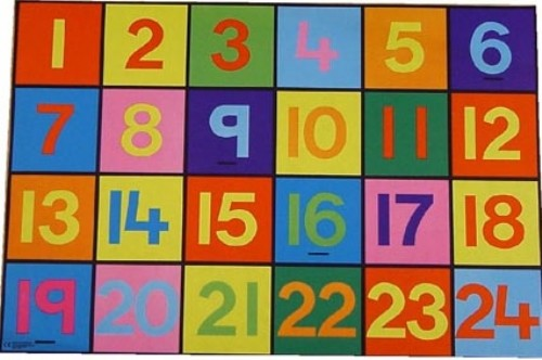 An image of Numbers Playmat 1-24