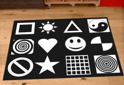 Black And White Nursery Playmat