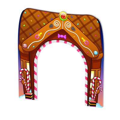 Gingerbread House Themed Doorway