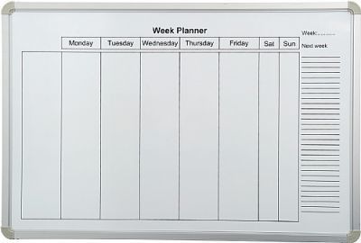 An image of PV Weekly Planner - Printed Whiteboards
