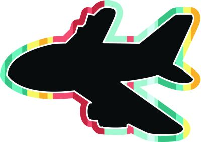 Toys Chalkboard - Aeroplane