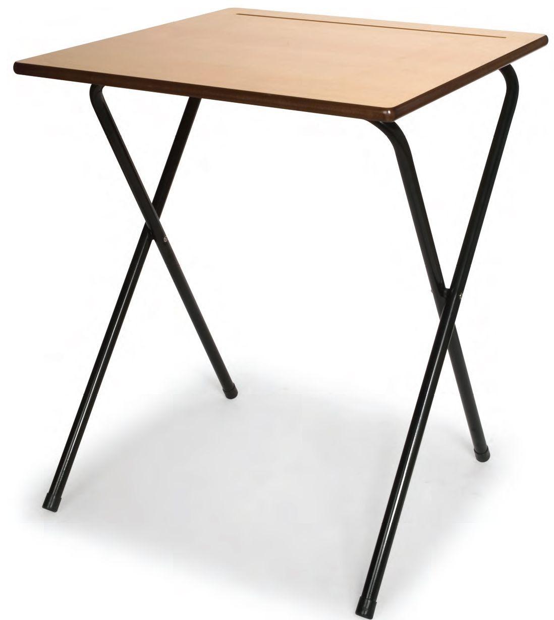 An image of 20 MDF Exam Desks & Trolley Bundle Set - Exam Desks for all Ed...